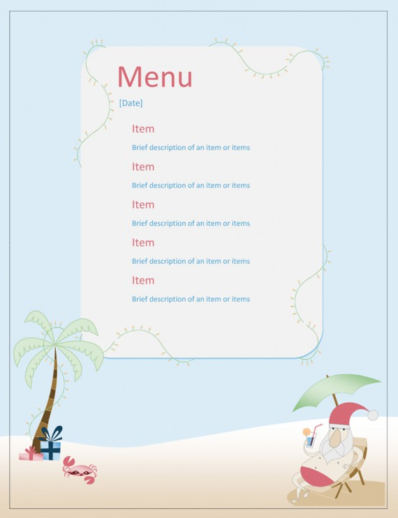 Design Restaurant Menu Free Download