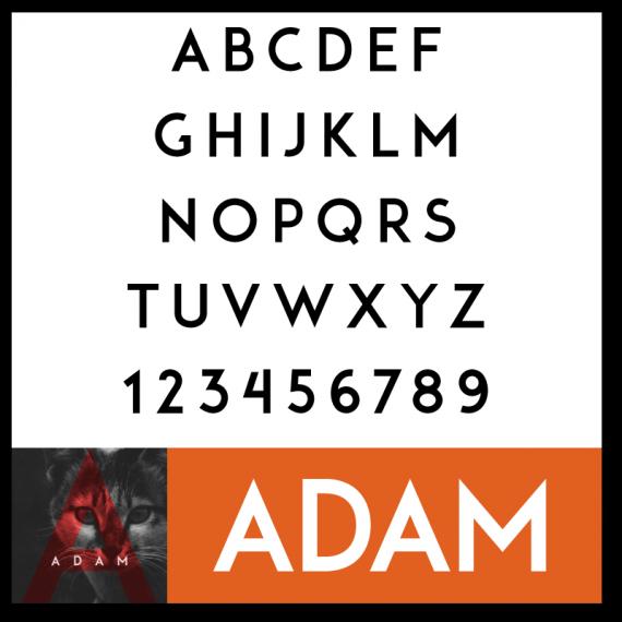 ADAM Font by Shrenik Ganatra