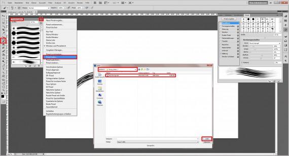 Photoshop Pinsel installieren (2)