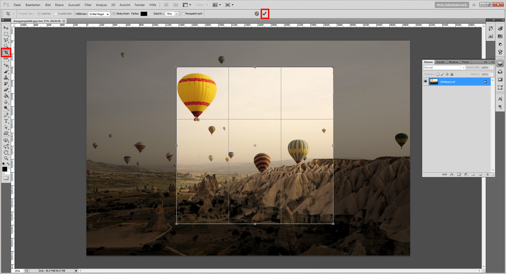 Tutorial: Zuschneiden und Drehen mit Photoshop » SAXOPRINT Blog