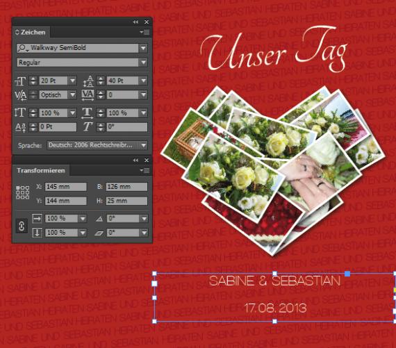 Inlay und Hülle für eine Hochzeit Video DVD (28)