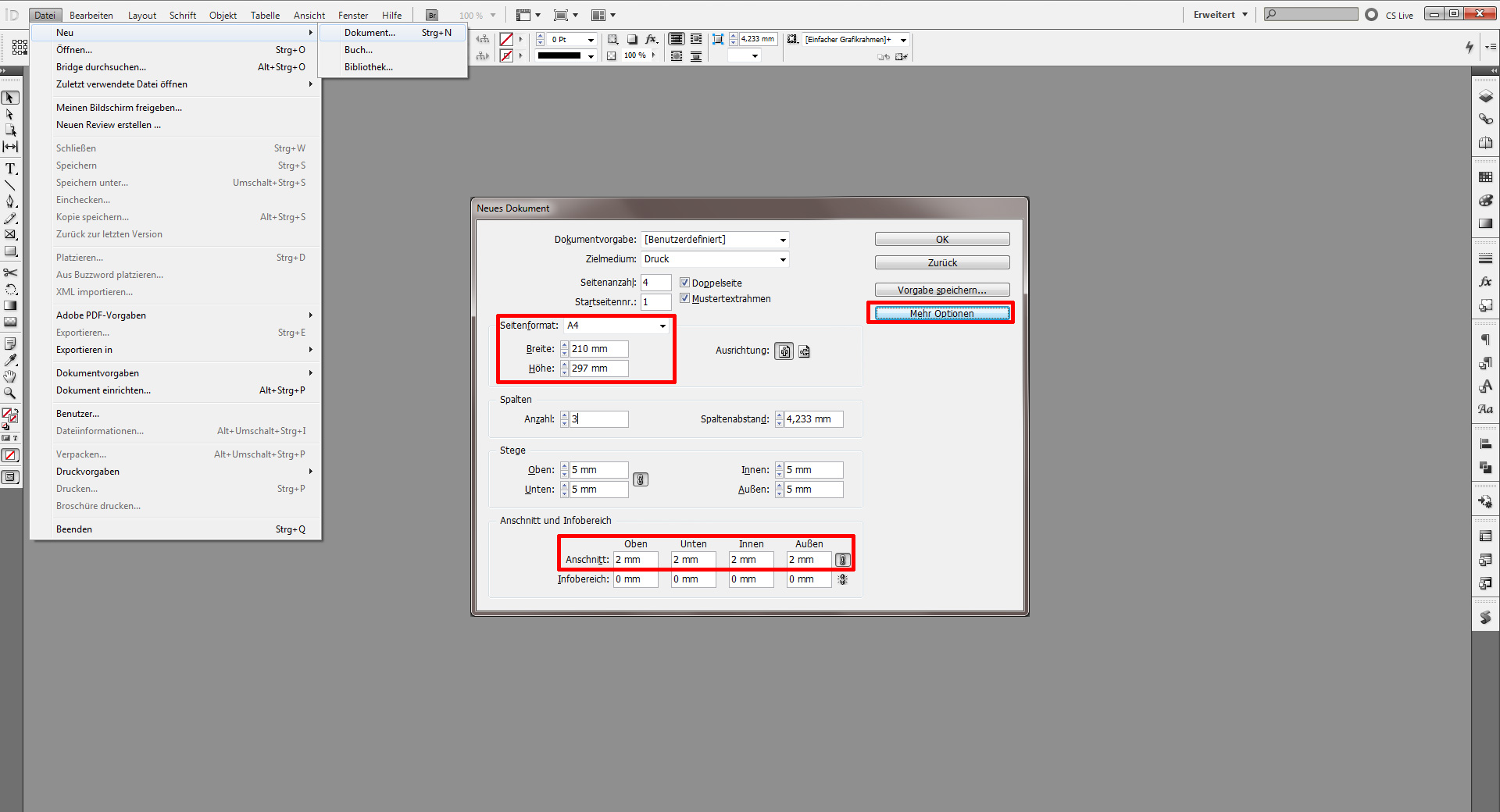 Tutorial Beschnitt Mühelos In Indesign Anlegen Saxoprint Blog