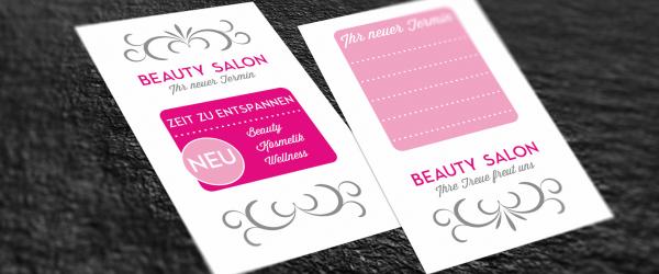 Terminkarten Eines Beauty Salons Erstellen Saxoprint Blog