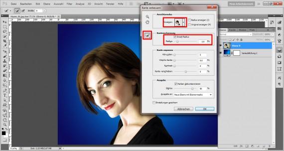 Haare freistellen in Photoshop (2)