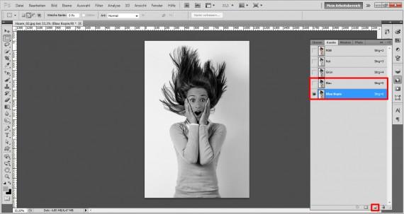 Haare freistellen in Photoshop (4)