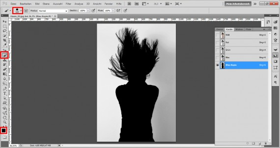 Haare freistellen in Photoshop (6)