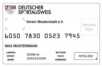 Der Deutsche Sportausweis (Vorderseite)
