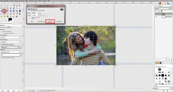 GIMP Einladung erstellen Tutorial Hochzeitseinladung (2)