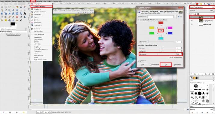 GIMP Einladung erstellen Tutorial Hochzeitseinladung (3)