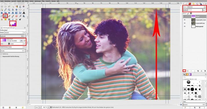GIMP Einladung erstellen Tutorial Hochzeitseinladung (4)