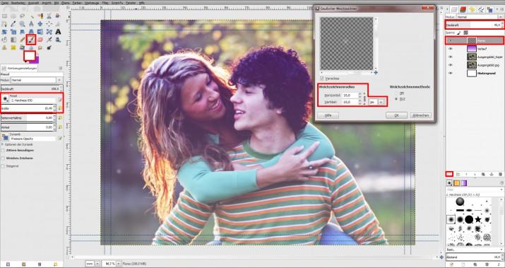 GIMP Einladung erstellen Tutorial Hochzeitseinladung (5)