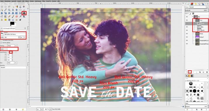 GIMP Einladung erstellen Tutorial Hochzeitseinladung (7)