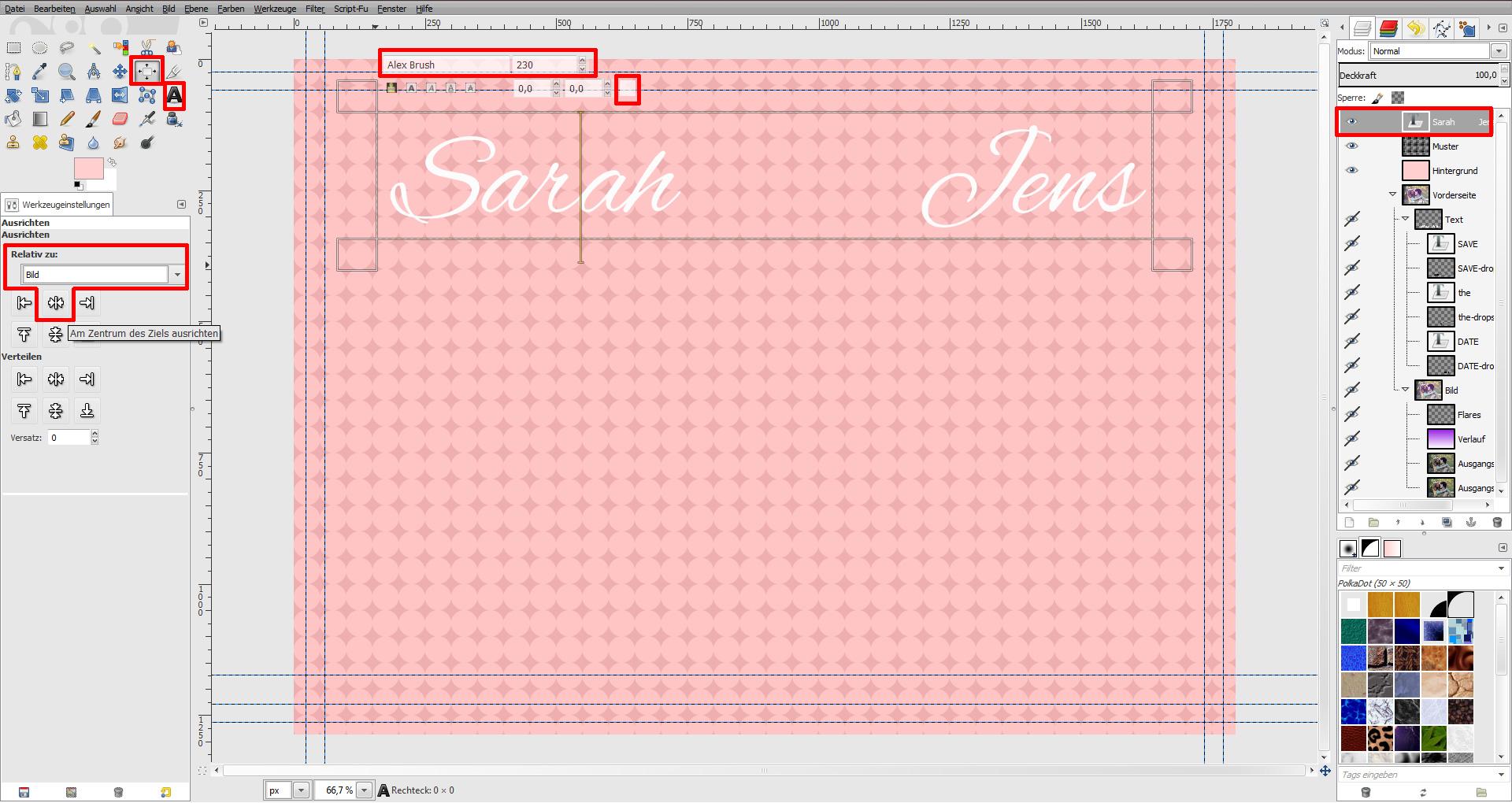 Tutorial: Mit GIMP eine Einladung gestalten » SAXOPRINT
