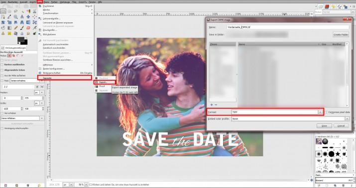GIMP Einladung erstellen Tutorial Hochzeitseinladung (17)