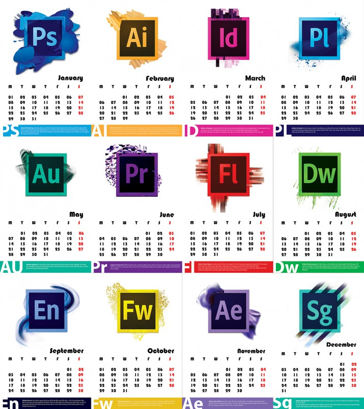 Kalender Design Inspirationen 2015 (27)