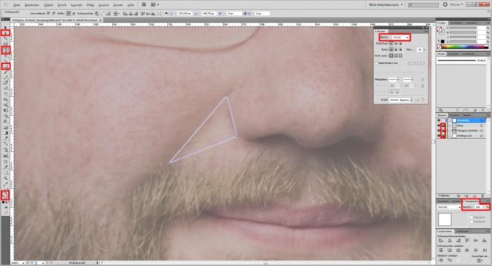 Photoshop Polygon Portrait im Low Poly Stil (2)
