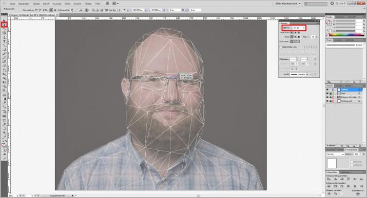 Photoshop Polygon Portrait im Low Poly Stil (3)