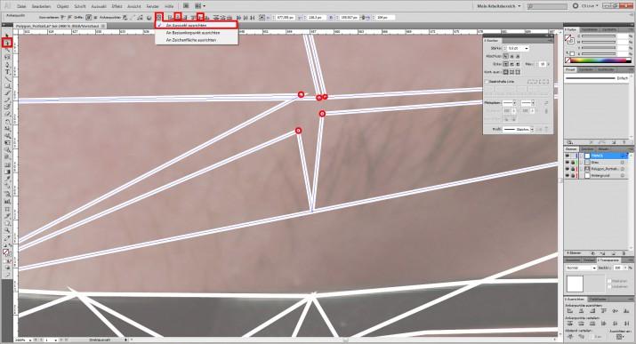 Photoshop Polygon Portrait im Low Poly Stil (4)