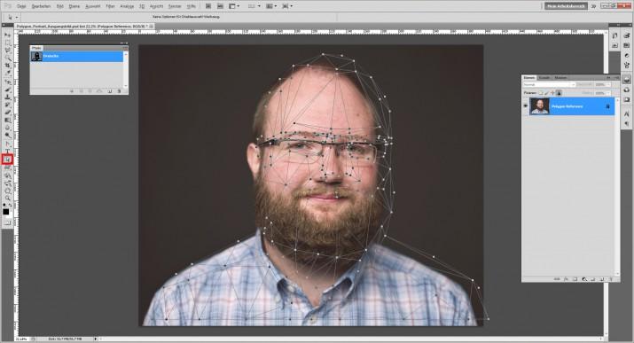 Photoshop Polygon Portrait im Low Poly Stil (6)