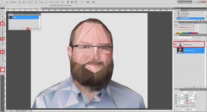 Photoshop Polygon Portrait im Low Poly Stil (8)