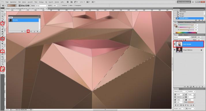Photoshop Polygon Portrait im Low Poly Stil (9)