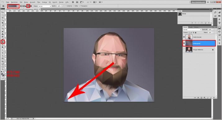 Photoshop Polygon Portrait im Low Poly Stil (11)