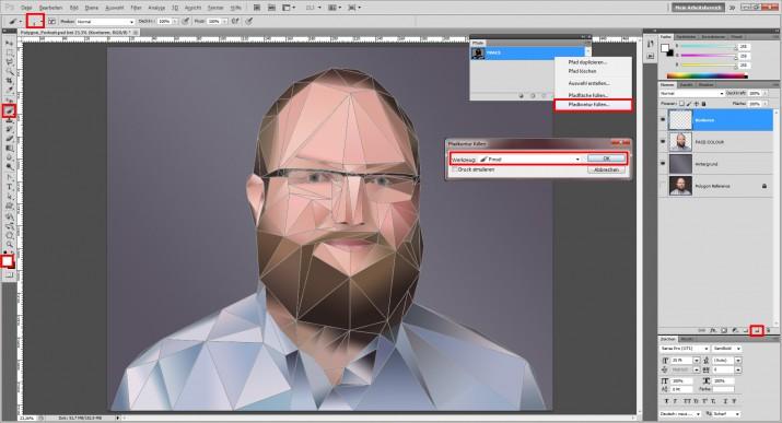 Photoshop Polygon Portrait im Low Poly Stil (12)