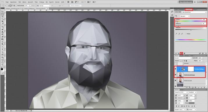 Photoshop Polygon Portrait im Low Poly Stil (13)