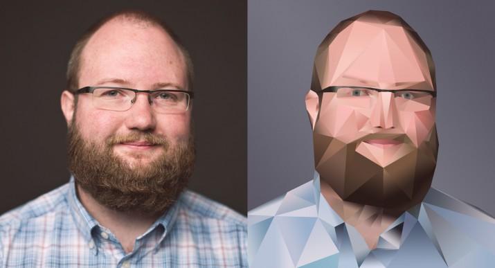 Photoshop Polygon Portrait im Low Poly Stil (fertig)