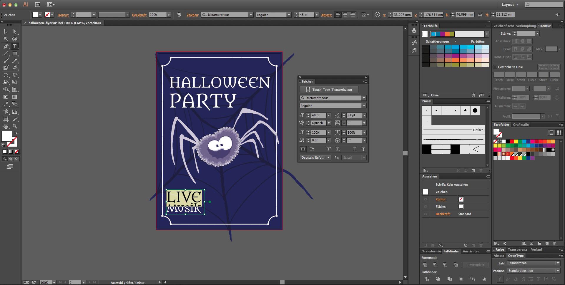 gestalte einen schaurigen halloween flyer saxoprint blog