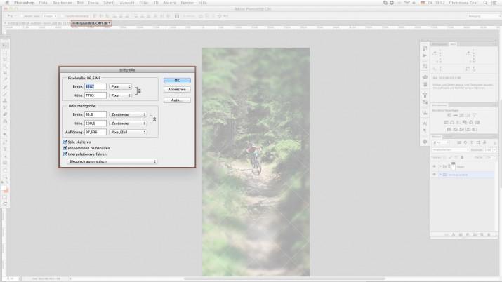 Messe Rollups - Bildeigenschaften im Photoshop