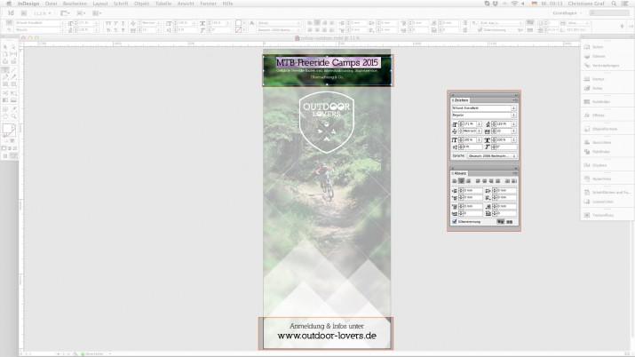 Messe Roll Ups - Textfelder formatieren