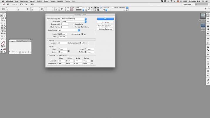 Inhalt einer Broschüre entwerfen mit der InDesign Software (02)