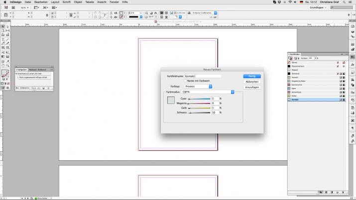 Inhalt einer Broschüre entwerfen mit der InDesign Software (03)