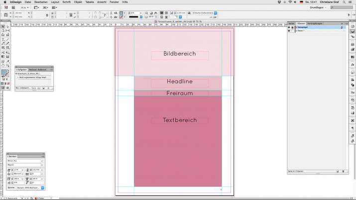 Inhalt einer Broschüre entwerfen mit der InDesign Software (04a)