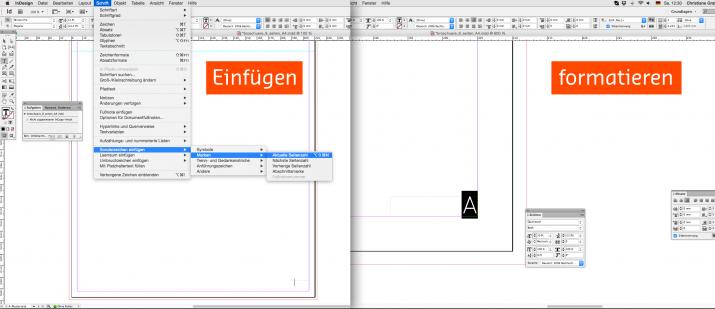 Inhalt einer Broschüre entwerfen mit der InDesign Software (04b)