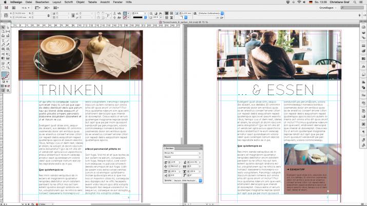Inhalt einer Broschüre entwerfen mit der InDesign Software (05)