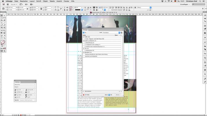 Inhalt einer Broschüre entwerfen mit der InDesign Software (06)
