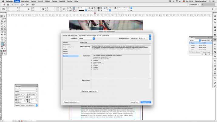 Inhalt einer Broschüre entwerfen mit der InDesign Software (07e)