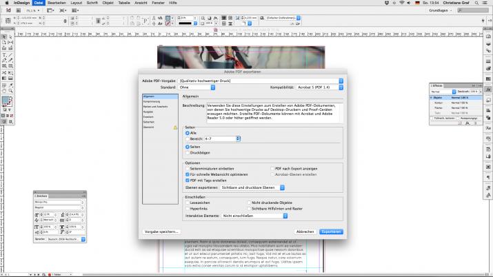Inhalt einer Broschüre entwerfen mit der InDesign Software (07a)