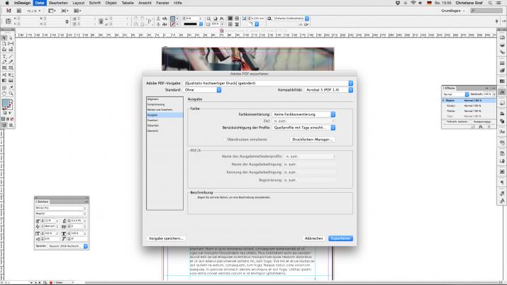 Inhalt einer Broschüre entwerfen mit der InDesign Software (07d)