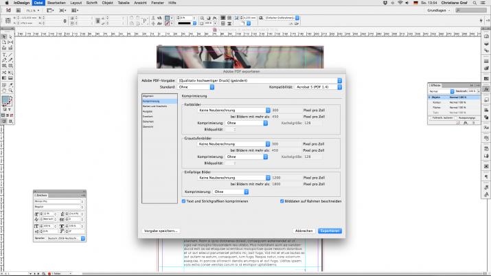 Inhalt einer Broschüre entwerfen mit der InDesign Software (07b)