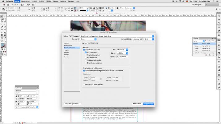 Inhalt einer Broschüre entwerfen mit der InDesign Software (07c)