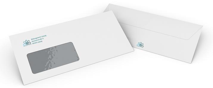 DIN lang-Umschlag mit eigenem Logo selbst gestalten