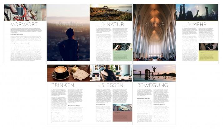 Inhalt einer Broschüre entwerfen mit der InDesign Software (fertig)