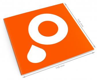 Das ausgefallene DIN Q5-Format als Broschüre im quadratischen Format 148 x 148 mm