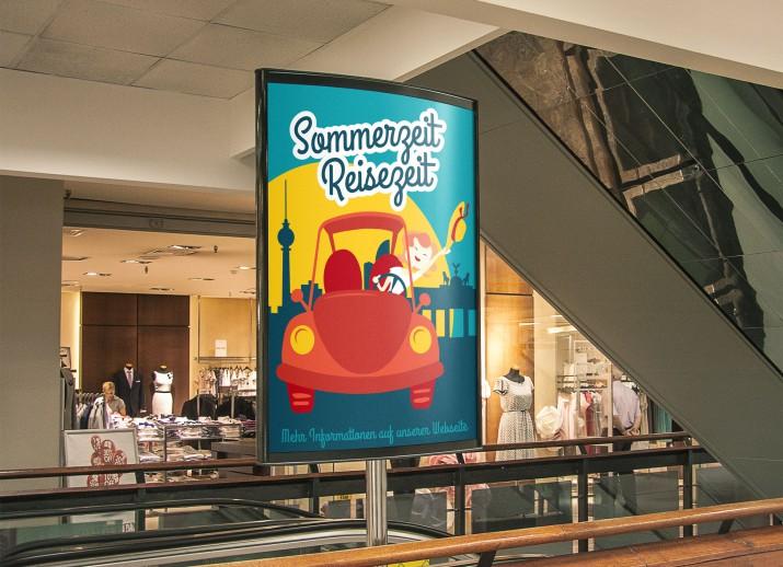 Ein Reisebüro Plakat als Poster DIN A1 lang