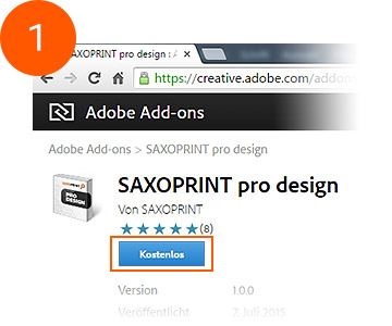 SAXOPRINT pro design auf Adobe Add-ons