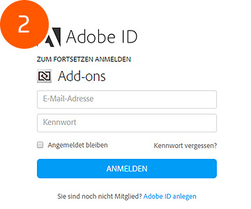 Adobe Add-ons Login
