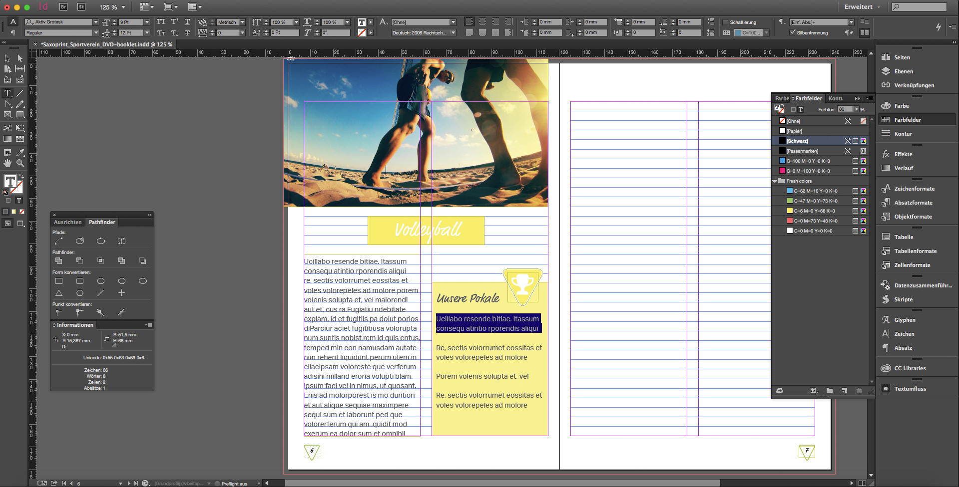 DVD Booklets für den Sportverein erstellen SAXOPRINT